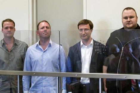 B. Van der Kolk, F. Batato, M. Ortmann y Kim Schmitz, detenidos. | Efe