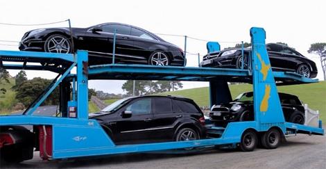 Varios de los coches incautados a Megaupload. | Foto: Autoevolution