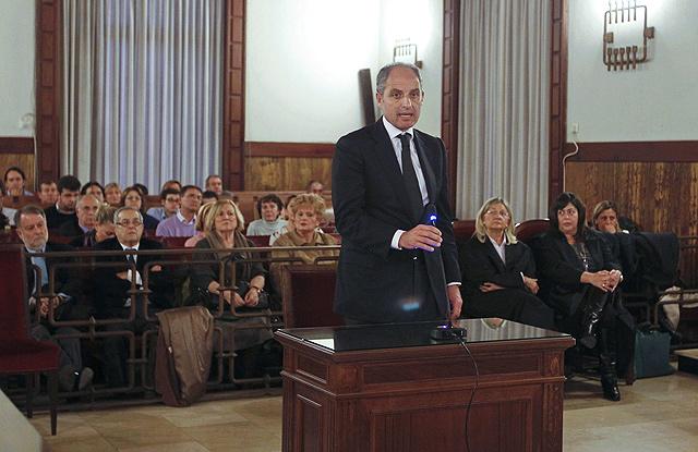 Francisco Camps, durante su último turno de palabra en el juicio. | Efe