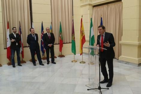 Pedro J. Ramírez en un momento de su intervención. | Carlos Díaz