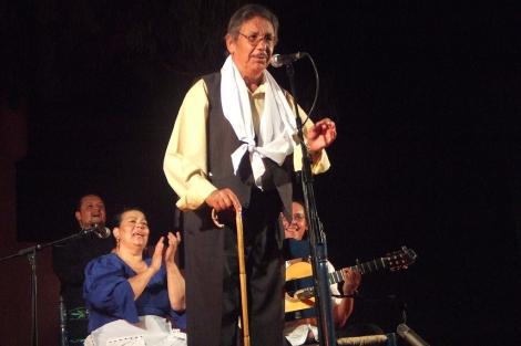El cantaor, en una de sus últimas intervenciones públicas. | M.M.M.
