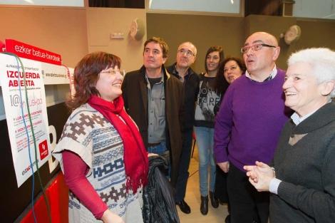 Muñoz, García Montero, Navas y Madrazo en la constitución de Izquierda Abierta. | Mitxi
