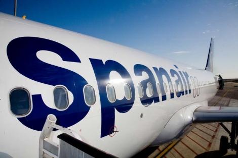 Uno de los aviones de la flota de Spanair.