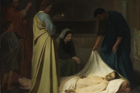 Entierro de san Lorenzo en las Catacumbas de Roma, de Alejo Vera.