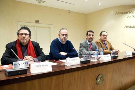 Reed Brody, Emilio Silva, Hugo Relva y Pedro Nikken (de izda. a dcha.) | Efe