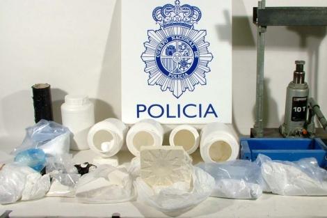 Droga intervenida en el desmantelamiento de una red de traficantes. | ELMUNDO.es