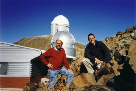 Michel Mayor y Didiez Queloz. | Fundación BBVA