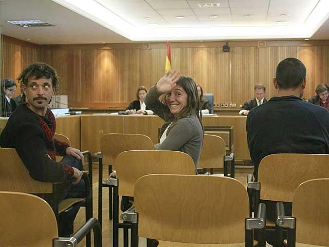 Daniel Pastor, Beatriz Etxebarria e Iñigo Zapirain en la Audiencia. | Efe