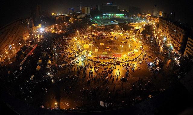 La plaza Tahir en la celebración del primer aniversario de la revolución. | Efe | [Más imágenes]