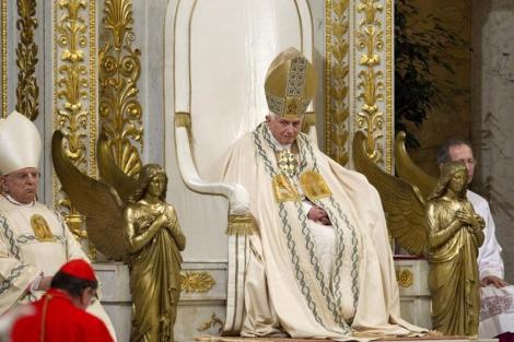 El Papa en el cierre de la Semana de Rezos en la basílica de San Pablo Extramuros. | Efe