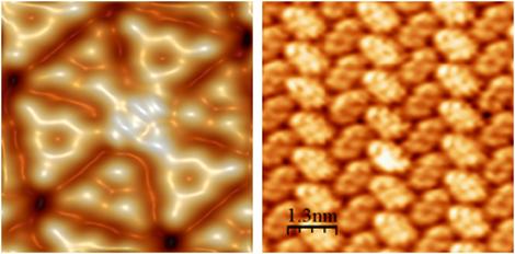 Imágenes de STM de moléculas orgánicas.| N. Nicoara, A. C. Marele, B. de la Torre, J. M. Gómez Rodríguez