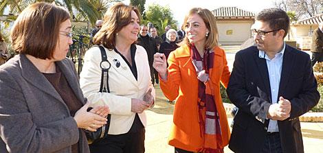 Chacón en un encuentro con los medios de comunicación en Jaén. Foto: Manuel Cuevas
