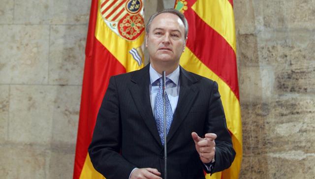 Alberto Fabra, durante su rueda de prensa en el Palau de la Generalitat. | Efe