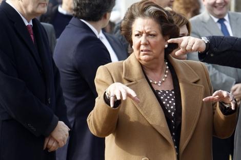La alcaldesa de Valencia, Rita Barberá, en un acto de este jueves.   José Cuéllar