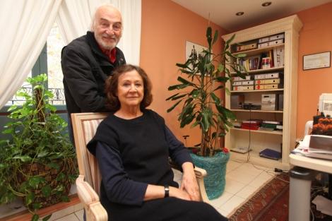 Julieta Serrano y Héctor Alterio, en el Teatro Principal, este viernes. | L.Hevesi
