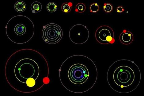 Recreación de los nuevos sistemas solares. | NASA