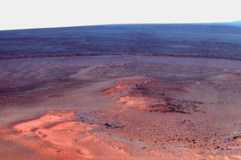 Combinación de imágenes tomadas por 'Opportunity'. | NASA
