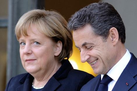 Sarkozy y Merkel, el pasado diciembre en el Elíseo.   AFP