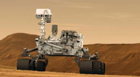 Recreación artística de 'Curiosity', el nuevo 'rover' de la NASA que va camino de Marte.
