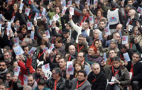 El recinto ferial de Amio acogió la asamblea nacionalista este fin de semana. | Efe