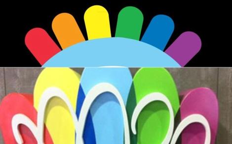 Arriba, el logo de la empresa de muñecos; abajo la de Madrid 2020.