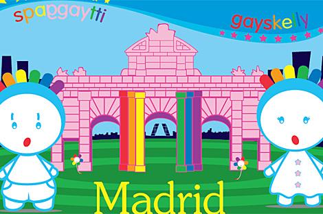 Imagen de los muñecos gays de la empresa Maicasa