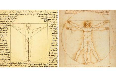 Los dibujos de Giacomo Andrea y leonardo Da Vinci.   'Smithsonian'