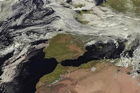Fotografía facilitada por la Agencia Estatal de Meteorología con la previsión de hoy.   Efe