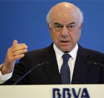 Francisco González, presidente del BBVA, durante la presentación de resultados. | Efe
