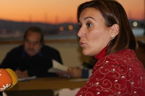La alcaldesa de La Línea, Gema Araujo, durante una comparecencia pública. | A.E.