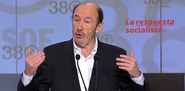 Rubalcaba, durante su discurso.