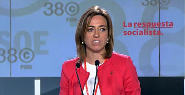Carme Chacón, durante su discurso.