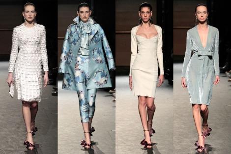 Cuatro modelos de la colección 'Chrystine' de Juan Vidal.