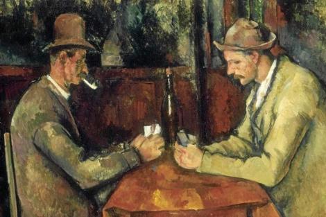 'Los jugadores de cartas' de Paul Cezanne.