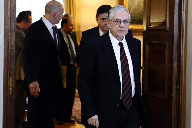 El primer ministro griego, Lucas Papademos. | Afp