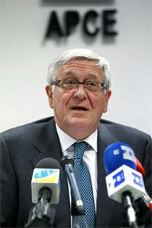 José Manuel Galindo, presidente de la APCE, durante la rueda de prensa. | Efe