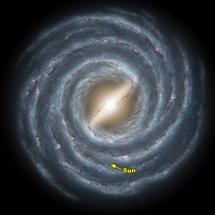 Recración de la Vía Láctea   NASA/JPL-Caltech/R. Hurt (SSC)