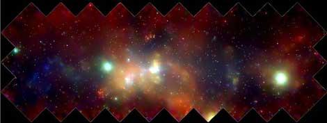 El Centro Galáctico observado en rayos X por el telescopio Chandra   NASA/UMass/Wang et al.