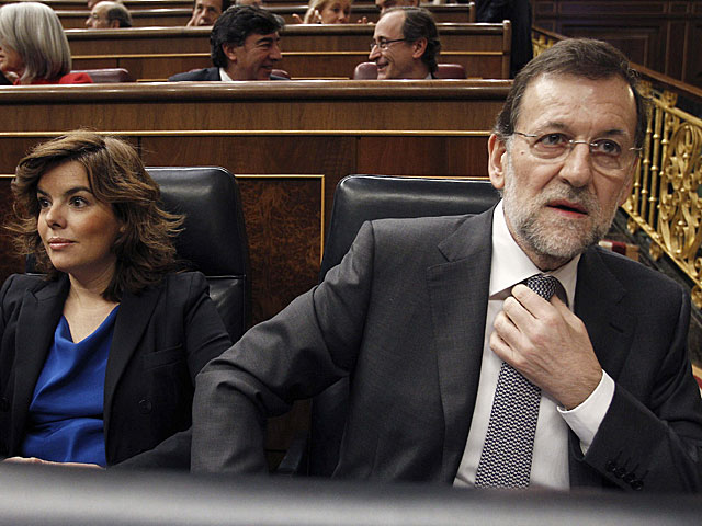 Mariano Rajoy, poco antes de su intervención hoy en el Congreso. | Ballesteros / Efe