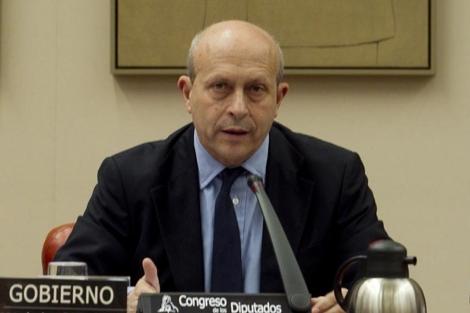 El ministro de Cultura, José Ignacio Wert, en el Congreso de los Diputados. | Begoña Rivas
