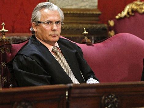 El juez Garzón, el pasado 17 de enero en el juicio de las escuchas. | Efe