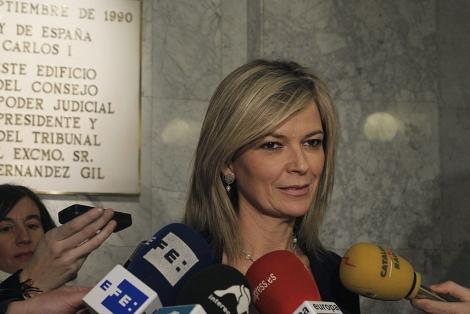 Gabriela Bravo, portavoz del CGPJ. | Manuel H. de León / Efe