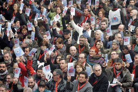 El recinto ferial de Amio acogió la asamblea nacionalista el 29 de enero. | Efe