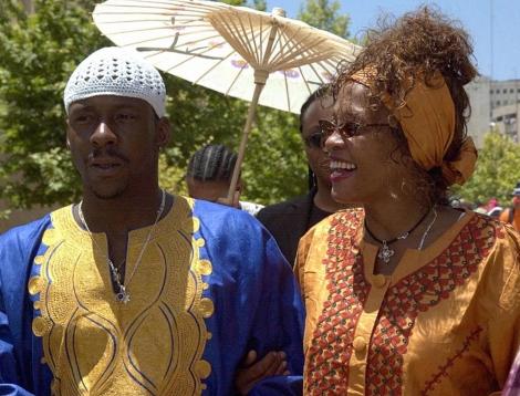 Whitney Houston y Bobby Brown, en Jerusalén. | Afp
