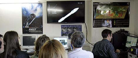Momento del lanzamiento retransmitido en directo desde Guyana Francesa. | Ical