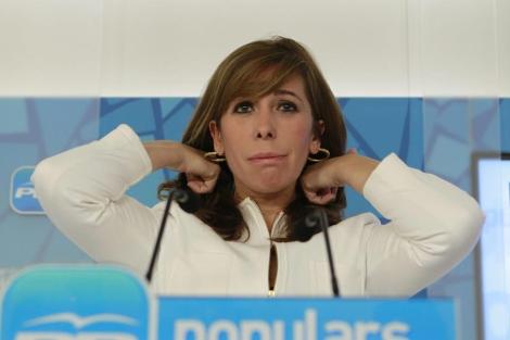 Alícia Sánchez-Camacho presenta esta mañana el pacto con CiU. | Efe