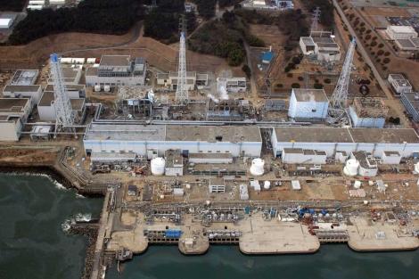 Estado de la central nuclear accidentada de Fukushima.   AFP