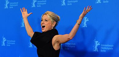 Katherine LaNasa posa durante el pase gráfico de 'Jayne Mansfield's Car', hoy en la Berlinale.| Efe