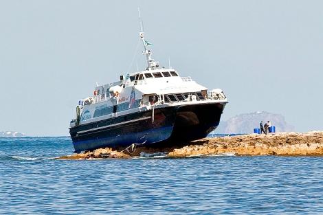 Los técnicos examinan los daños en el buque | Sergio G. Cañizares