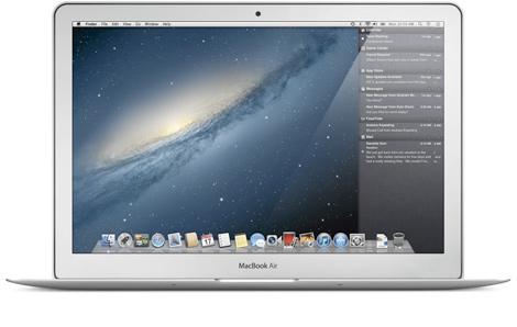 Captura de las notificaciones en ordenadores.   Apple